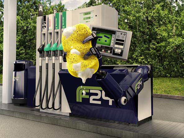 3D Petrol Pump Robot Character Illustration Thumbnail