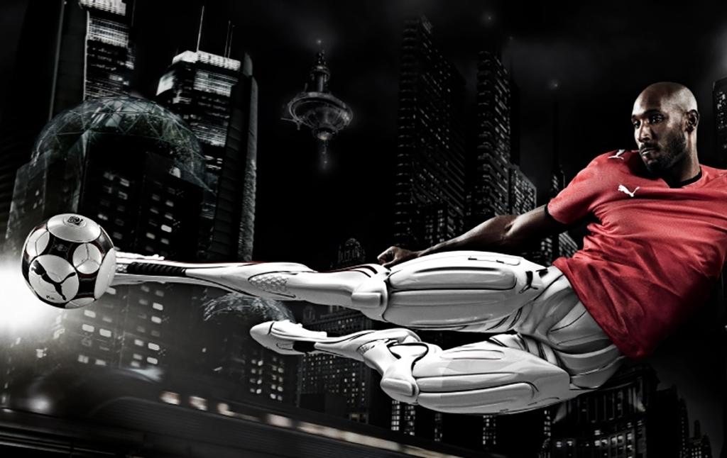 3D Puma Anelka Cyborg Footballer Illustration Thumbnail
