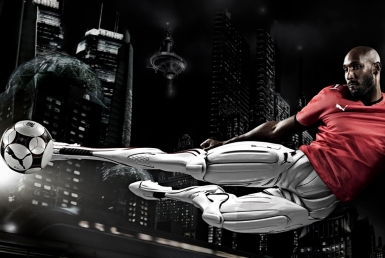 3D Puma Anelka Cyborg Footballer Illustration Thumbnail