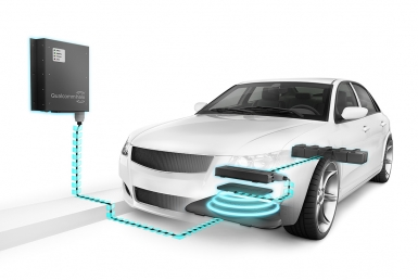 3D Quallcom Electric Car Charging Unit Illustration Thumbnail