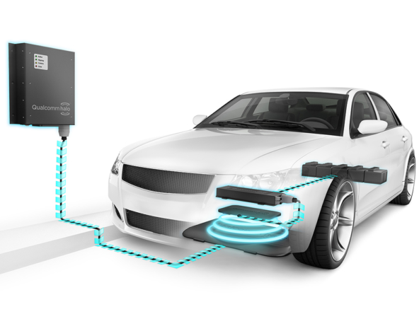 3D Quallcom Electric Car Charging Unit Illustration Thumbnail