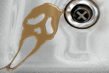 3D Scream Movie Liquid Sink Illustration
