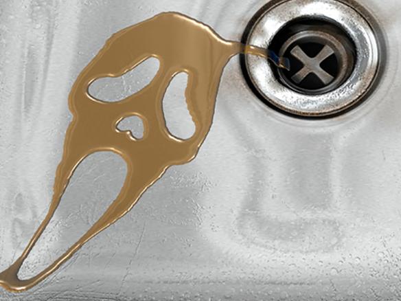 3D Scream Movie Liquid Sink Illustration