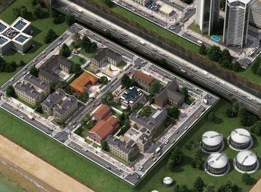 3D Sim City Nintendo DS Video Game Illustration Thumbnail