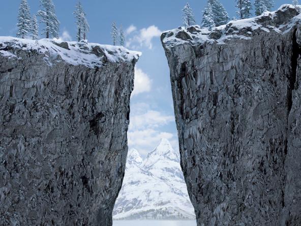 3D Snowy Cliffs Environment Illustration Thumbnail