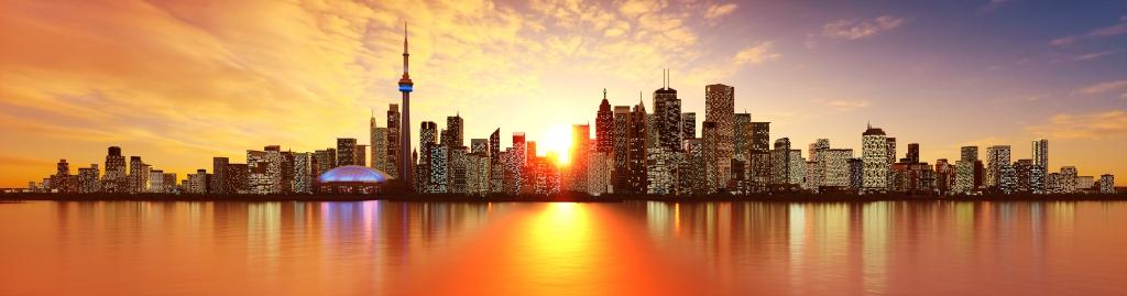3D Toronto Skyline Illustration