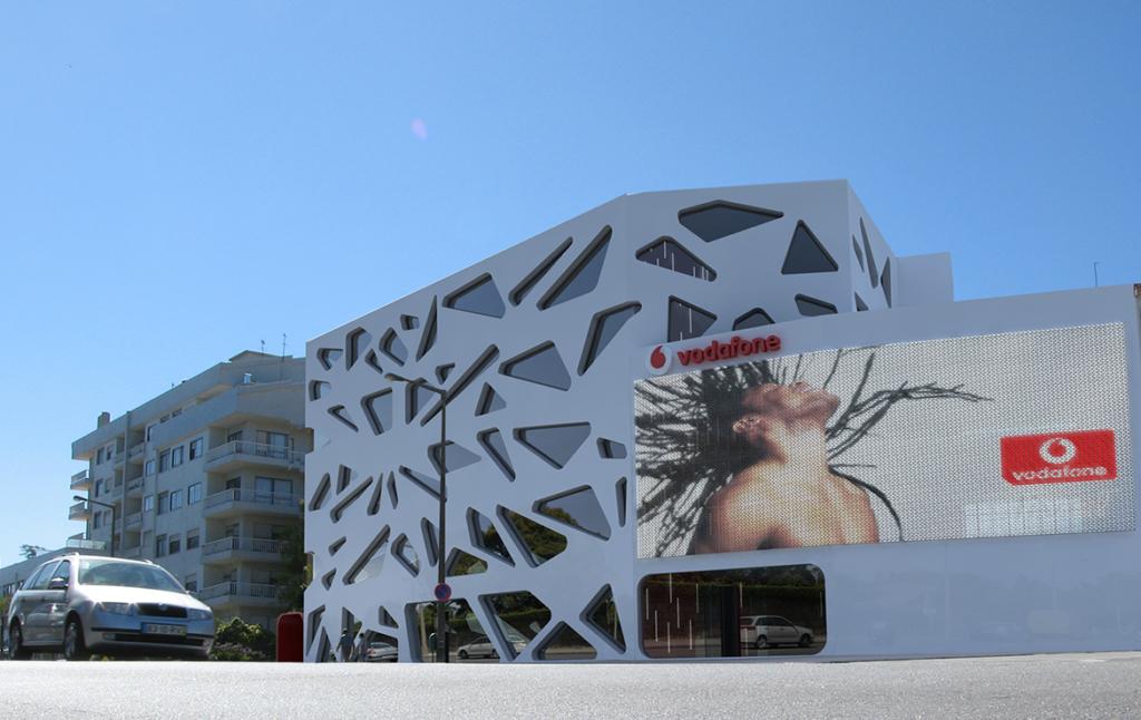3D Vodafone Store Architectual Exterior Illustration Thumbnail