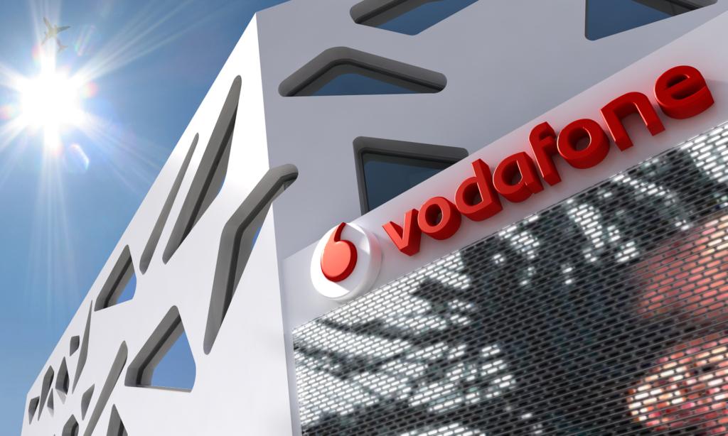 3D Vodafone Store Signage Illustration