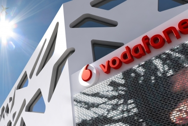 3D Vodafone Store Signage Illustration