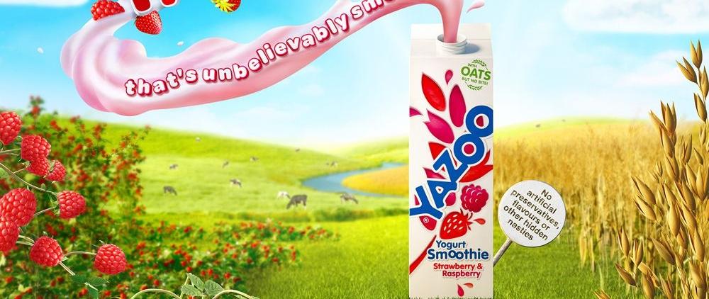 3D Liquid Yazoo Yogurt Bottles Product Illustration Thumbnail