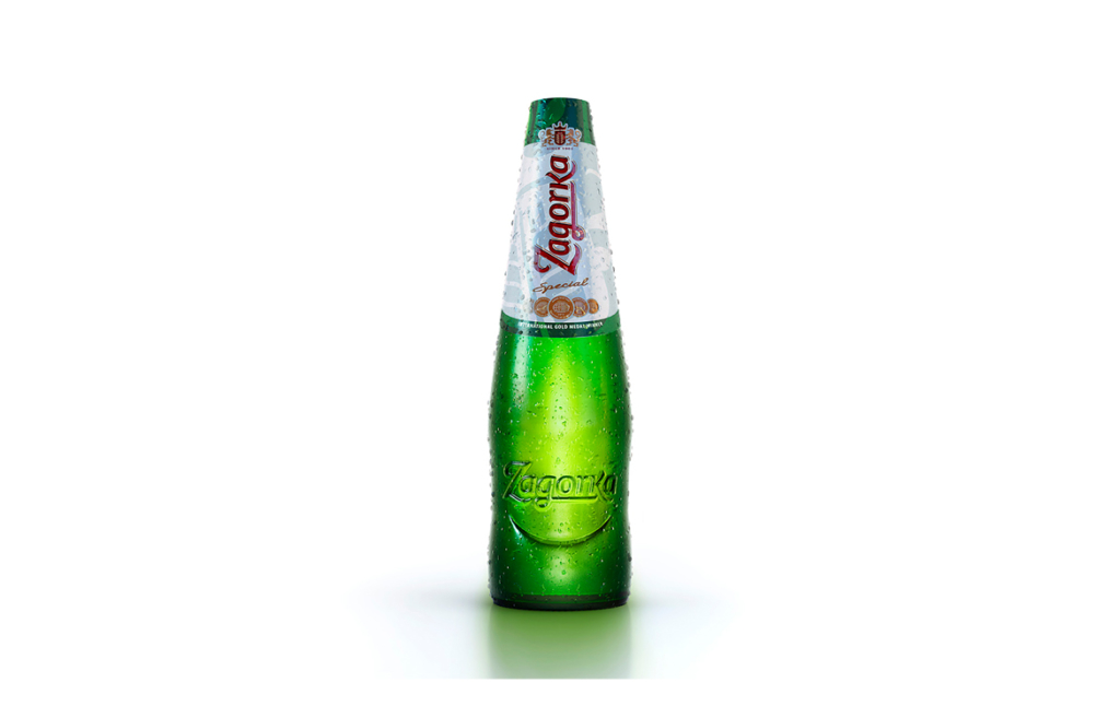 3D Drink Zagorka Glass Bottle Illustration Thumbnail