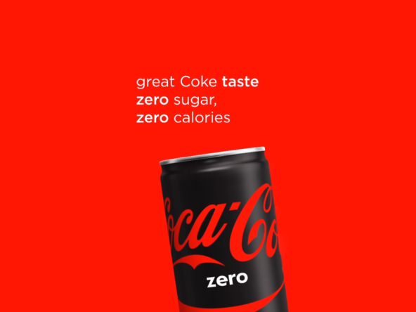 2D Coke Zero Motion Graphics Advertisement Animation Thumbnail