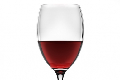 3D Red Wine Liquid in Wine Glass Illustration thumbnail
