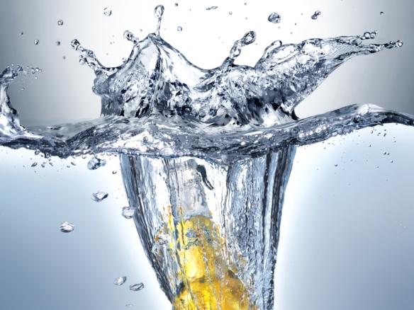 3D liquid splash beer bottle thumbnail