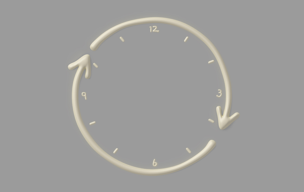 3D Vasaline Liquid Clock Illustration Thumbnail
