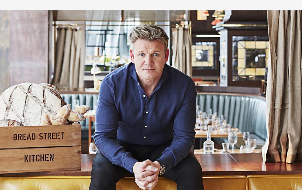2D Chef Gordon Ramsay Profile Shot Photo Retouch Illustration Thumbnail