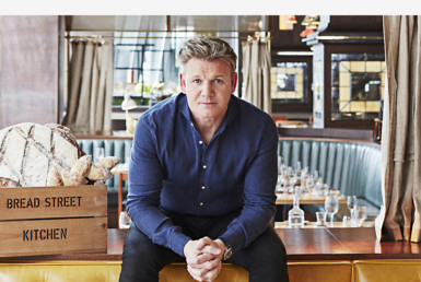 2D Chef Gordon Ramsay Profile Shot Photo Retouch Illustration Thumbnail