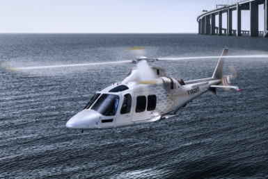 2D Helicopter Over the River Photo Retouch Illustration Thumbnail