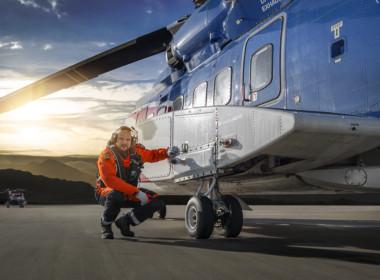 2D Helicopter Pilot Photo Retouch Illustration Thumbnail
