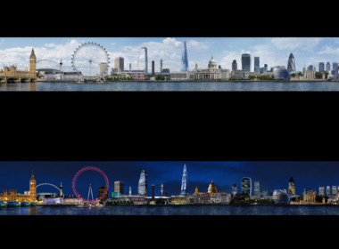 2D London City Skyline Photo Retouch Illustration Thumbnail