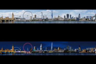 2D London City Skyline Photo Retouch Illustration Thumbnail