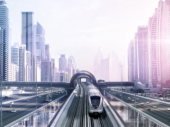 2D Modern City Metro Photo Retouch Illustration Thumbnail
