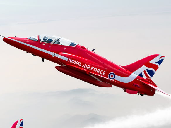 2D Red Arrows Jet Planes Photo Retouch Illustration Thumbnail