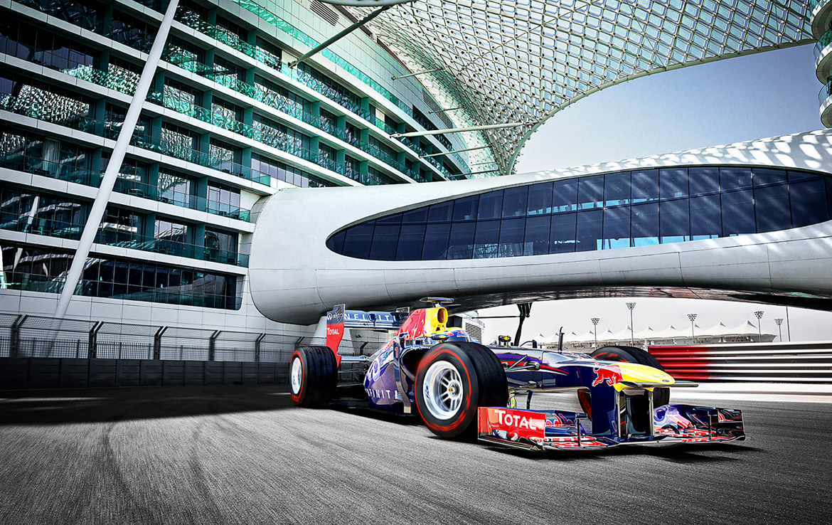2D Red Bull Formula One Racing Photo Retouch Illustration Thumbnail