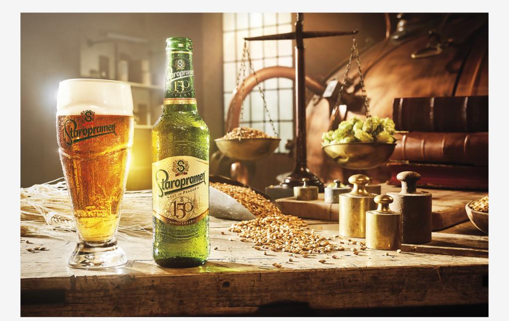 2D Staropramen Beer Product Shot Photo Retouch Illustration Thumbnail