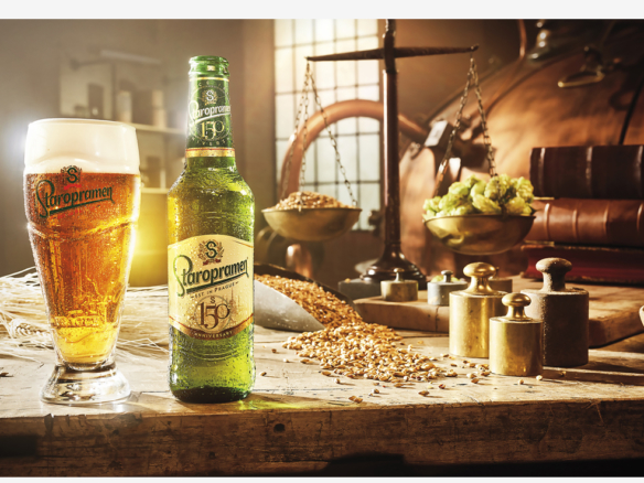 2D Staropramen Beer Product Shot Photo Retouch Illustration Thumbnail