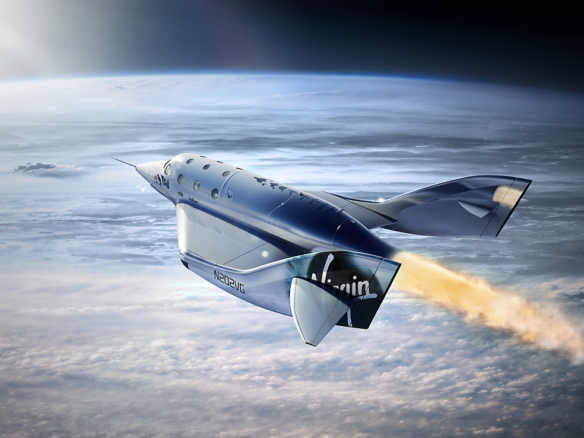 2D Virgin Galactic Rocket Photo Retouch Illustration Thumbnail