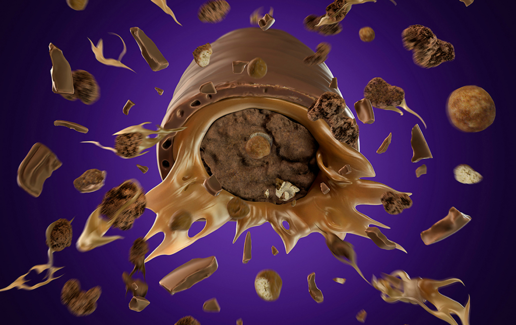 3D Chocolate Boost Explosion Illustration Thumbnail