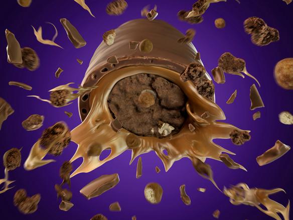 3D Chocolate Boost Explosion Illustration | Illustration Agency