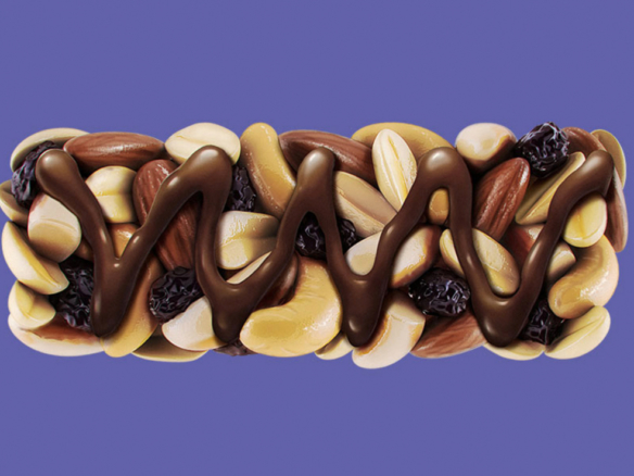 3D Chocolate Fruit and Nut Bar Illustration Thumbnail