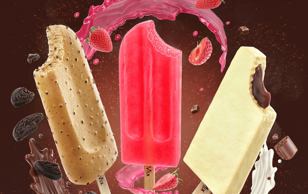 3D Ice Lolly Flavours Illustration Thumbnail