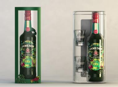 3D Jameson Irish Whisky Bottle Illustration Thumbnail