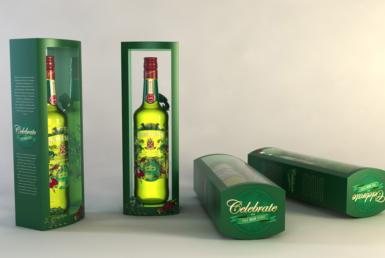 3D Jameson Irish Whisky Bottle Packaging Illustration Thumbnail