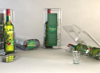 3D Jameson Whisky Bottle Packaging Illustration Thumbnail