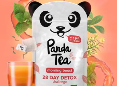 3D Liquid Panda Peach Tea Packaging Illustration Thumbnails