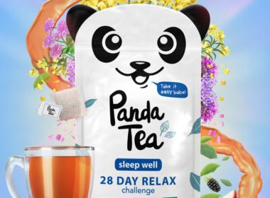 3D Liquid Panda Tea Packaging Illustration Thumbnail