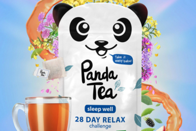 3D Liquid Panda Tea Packaging Illustration Thumbnail