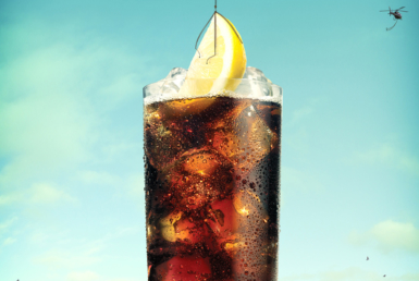 3D Liquid Smirnoff and Coke Glass Illustration Thumbnail