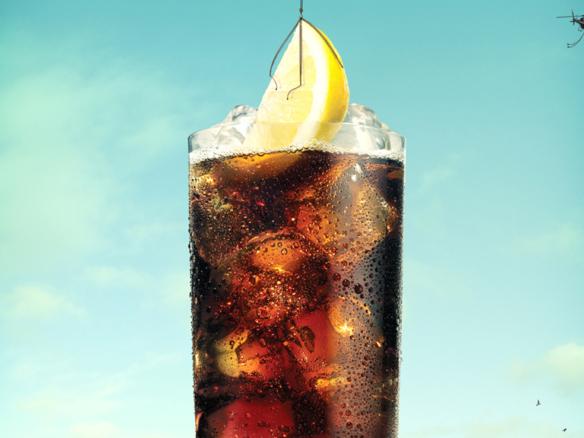 3D Liquid Smirnoff and Coke Glass Illustration Thumbnail