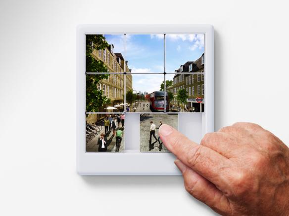 3D Puzzle London Street Illustration Thumbnail