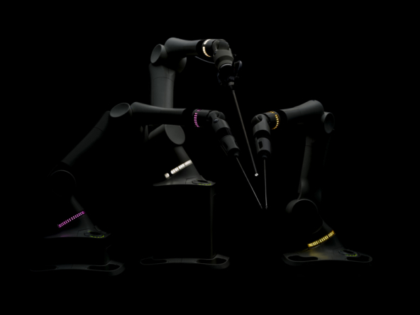 3D Robotic Industrial Arms Photo Retouch Illustration Thumbnail