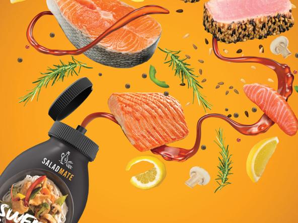 3D Salmon Sauce Food Illustration Thumbnail