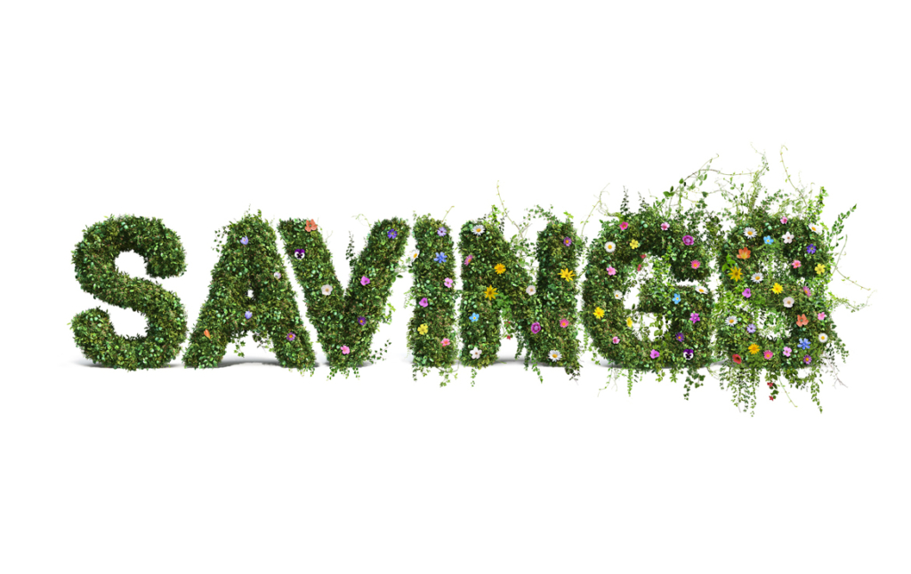 3D Savings Flower Text Photo Retouch Illustration Thumbnail