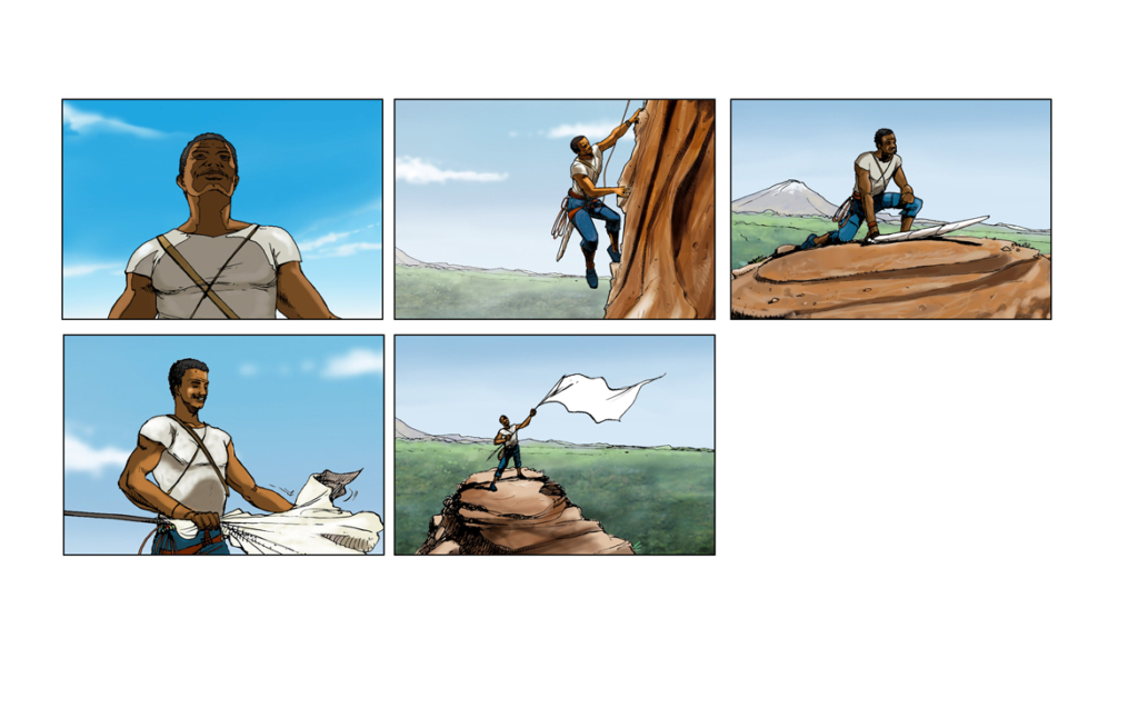 2D Flag Celebration Storyboard Illustration Thumbnail