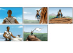 2D Flag Celebration Storyboard Illustration Thumbnail