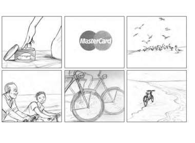 2D Mastercard Shooting Board Illustration Thumbnail